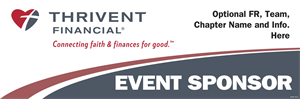 Picture of Thrivent Banner- Event Sponser | 24 x 72