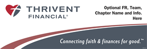 Picture of Thrivent Banner with tagline custom | 24 x 72