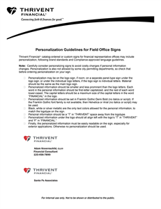 Picture of Personalization Guidelines for Field Office Signs