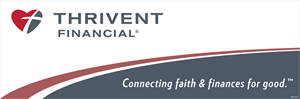 Picture of Thrivent Banner with tagline Gray Bottom